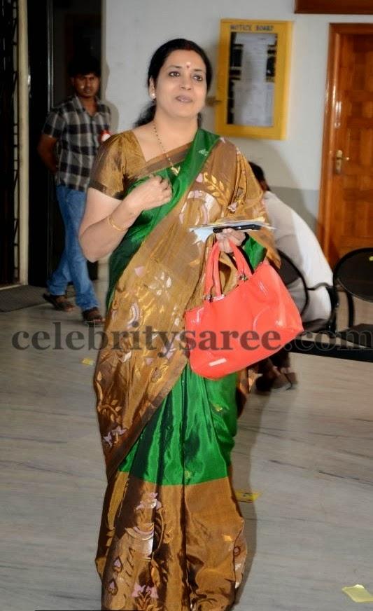 Jeevitha Dark Green Uppada Saree