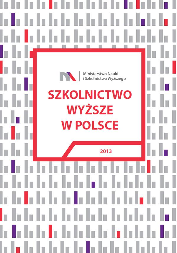 """Okładka raportu """"Szkolnictwo Wyższe w Polsce"""", który opublikowało Ministerstwo Nauki i Szkolnictwa Wyższego"""