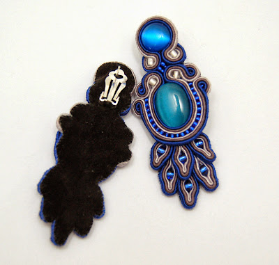 kolczyki sutasz soutache earrings 64a