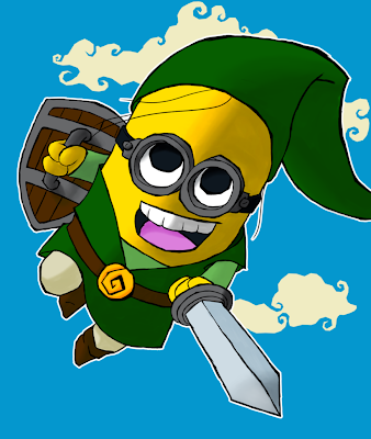 minion link ink zelda