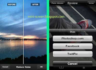 Free Photoshop Express for iOS: iPhone (not iPad) Interface