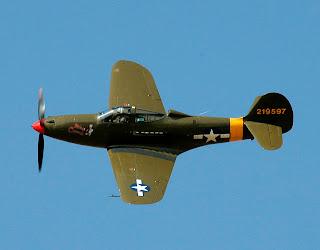 bell p-39 inflight, classic aircraft, bell p39