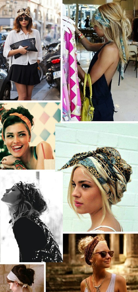 Scarf in your hair