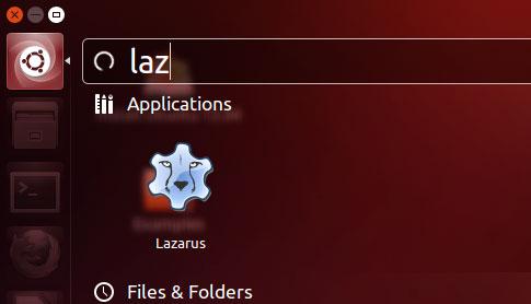 Lazarus 1.0.8 icon on Ubuntu 13.04 (Raring) Dash