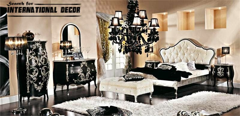 Luxury Italian bedroom and furniture in classic style  Interior