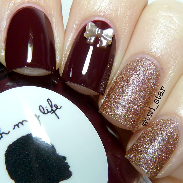 Vampy nails Polish My Life Pom Pom Spice swatch