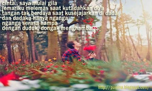 Puisi Cinta Saya Mulai Gila - Arjuna Linglung
