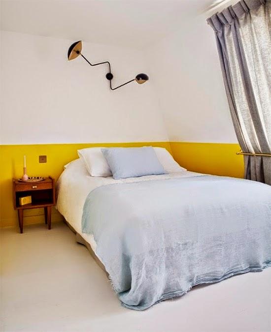 parede amarela no quarto