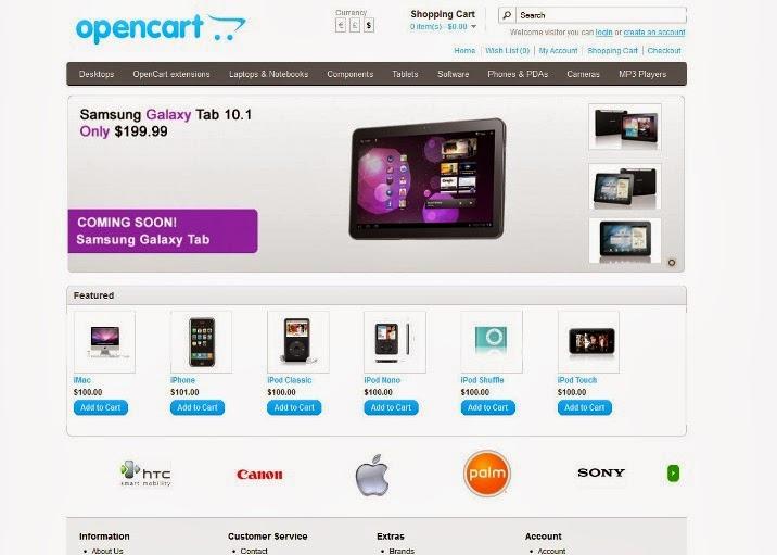 OpenCart Mobile Framework Lite