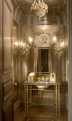 jessica lagrange, mirrored furniture, mirrored walls, glamorous decorating, top designers