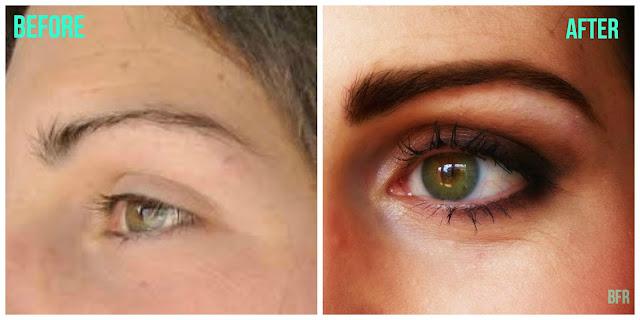 maquillaje antes y después