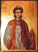 Sfantul Arhidiacon Stefan, icoana bust pictata pe lemn