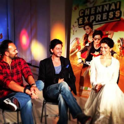 Shahrukh, Rohit & Deepika Padukone @ Chennai Express Trailer Launch-7