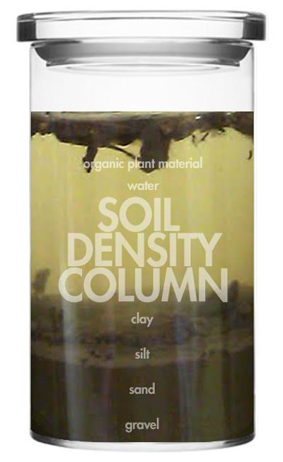 E is for explore soil density column for Soil jar experiment