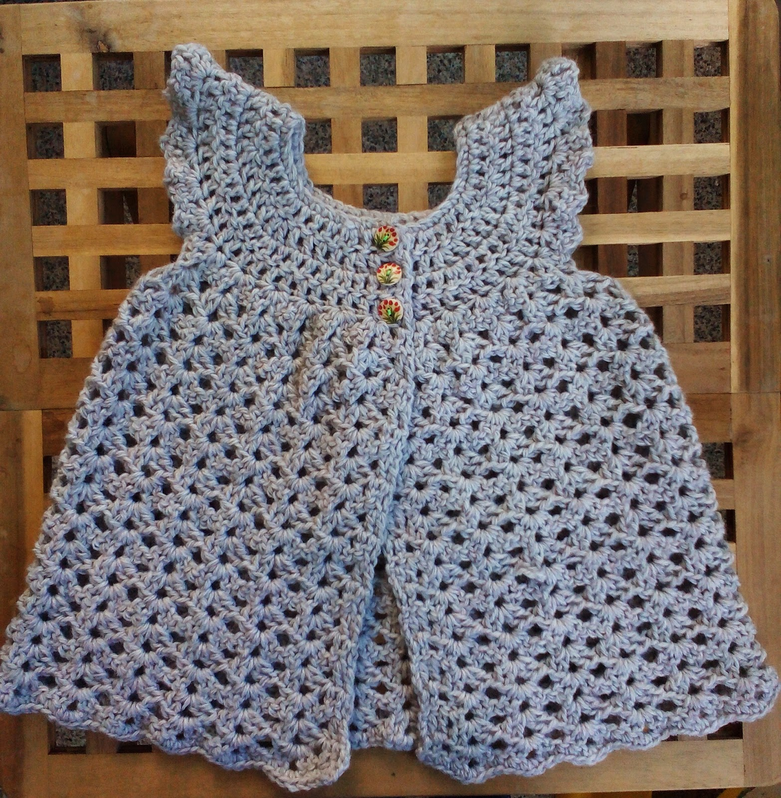 Toddlerized Crochet Angel Wings Pinafore