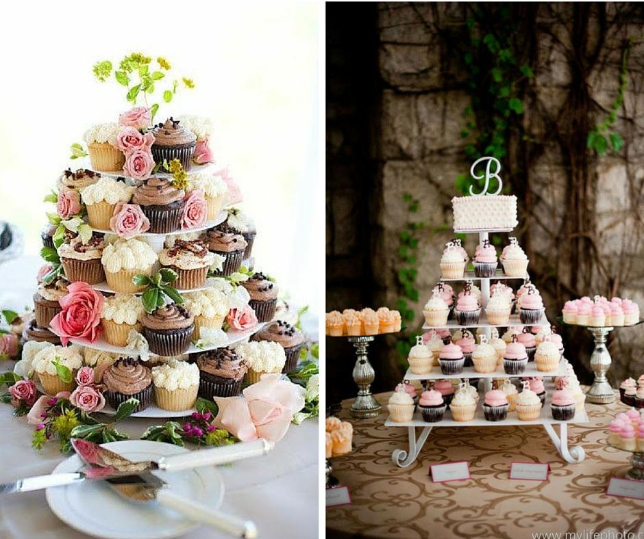 красиви сватбени торти с кексчета