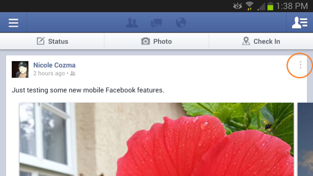 Tutorial to change privacy settings with Facebook v3.3 on Android devices, download the latest version now