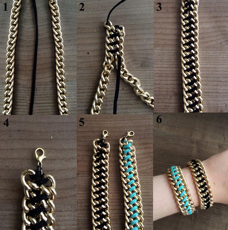 diy gold bracelets