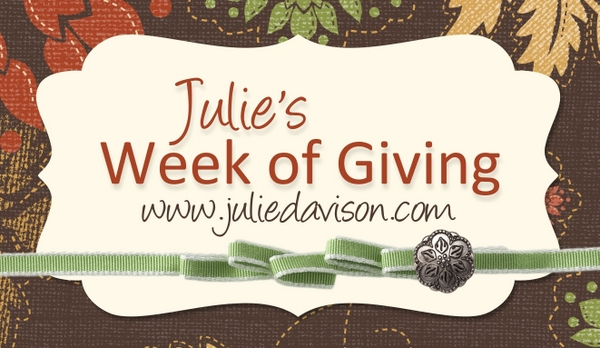 Julie's Week of Giving -- 8 Days of Prizes! www.juliedavison.com