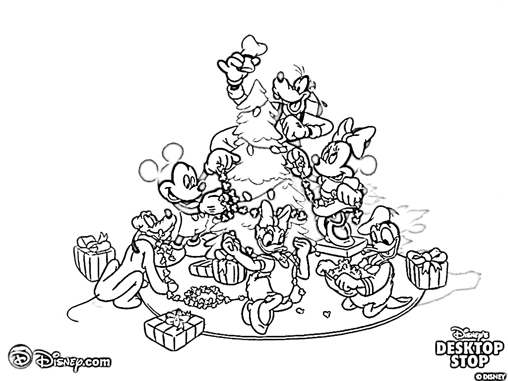 xmas disney coloring pages - photo#14