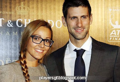 Novak Djokovic and his girlfriend Jelena Ristic