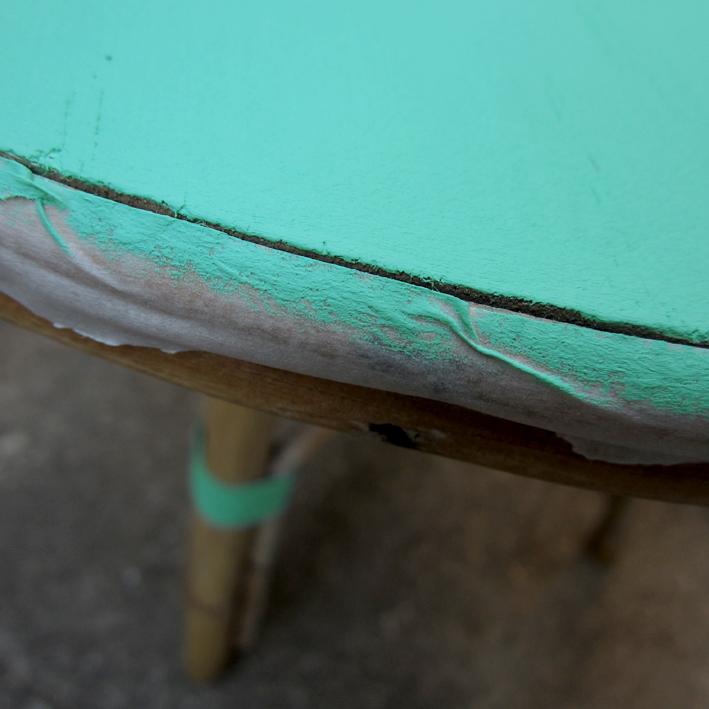DIY relooker une petite table en rotin - http://spicerabbits.blogspot.fr/