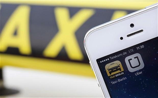 حظر تطبيق أوبر في المانيا بسبب طلب سيارات التاكسي عبر الهواتف المحمولة uber app  Uber