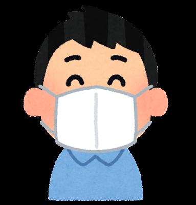 マスクをした人のイラスト(男性)