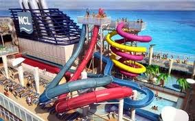 Water Slides on Board the Norwegian Breakaway - Norwegian Cruise Line