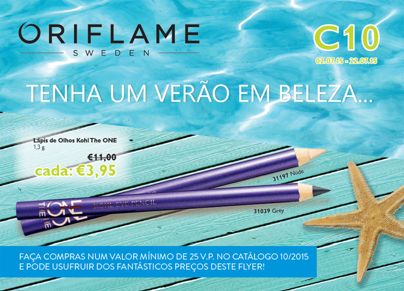 Flyer do Catálogo 10 de 2015 da Oriflame