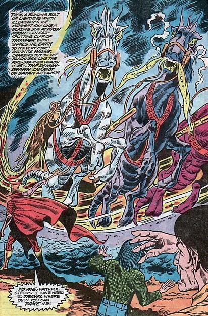Marvel Spotlight #12, the Son of Satan, Herb Trimpe, horsies