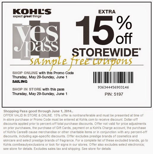 Kohls coupons july 2018 30