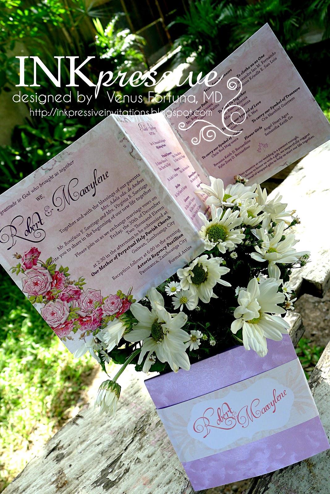 tri fold wedding invitations with postcard example custom tri fold