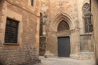 Doorway of Barcelona cathedral called La Pietat