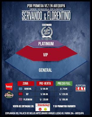 Servando y Florentino Precios de entradas