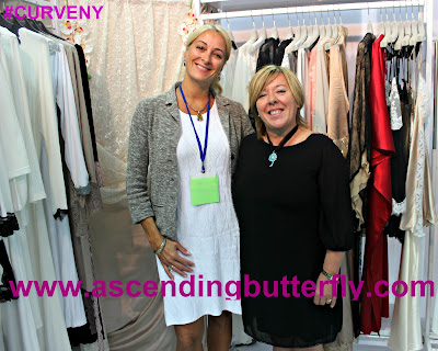 Love+Grace booth with Julie Zipperer MODE LINGERIE AND SWIM CURVEXPO 2015