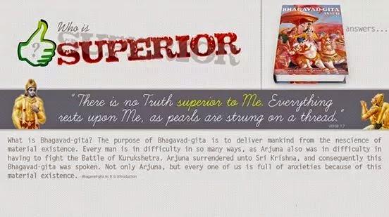 Bhagavad Gita - Who is superior