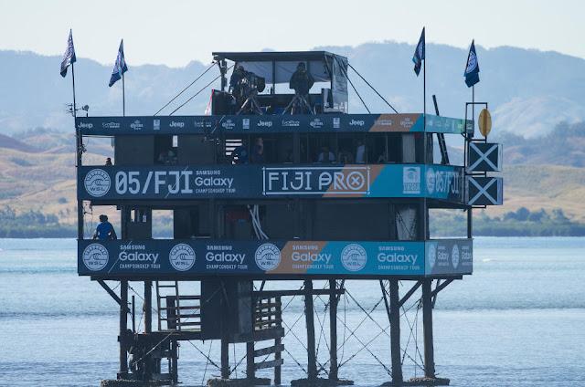 13 Fiji Pro Judges Tower 2015 Fiji Womens Pro Fotos WSL Kirstin