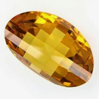 cubic zirconia yellow fancy cut
