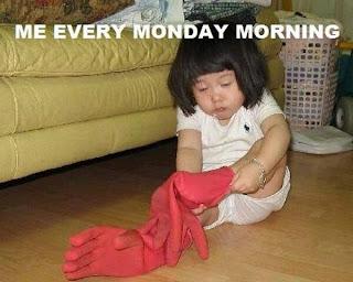 Montag morgens Handschuhe anziehen