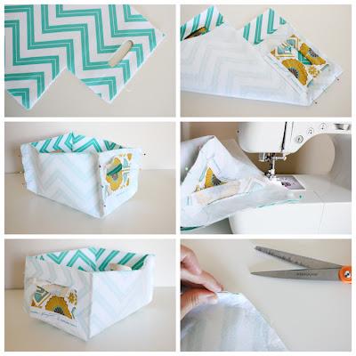 Como fazer cestas reversíveis por Delia Cria
