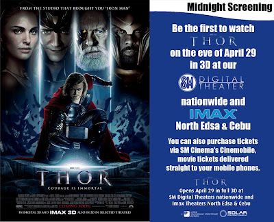 Watch THOR 3D at SM Cebu on April 29