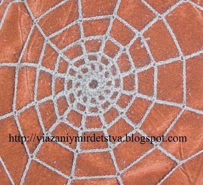 Вязание паука крючком