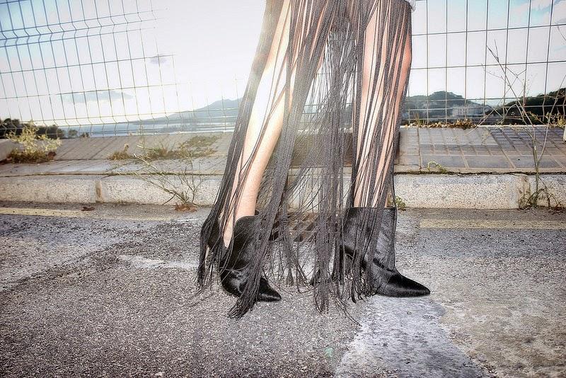 Vestido H&M; Botines Zara