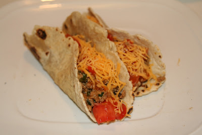 Soft taco with gluten-free tortillas