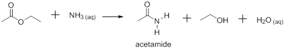 the preparation of acetamide through the reaction of ethly acetate and ammonia Preparation of acid chlorides  of acetyl chloride with ammonia will yield acetamide o cl nh 3  fire in the middle ages through contamination on rye .