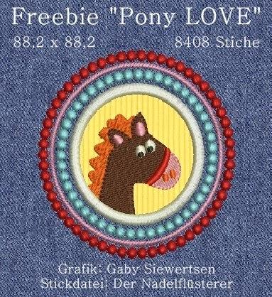 """Freebie """"Pony LOVE"""""""