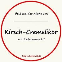 Flaschen-Etikett für Kirsch-Cremelikör als Download