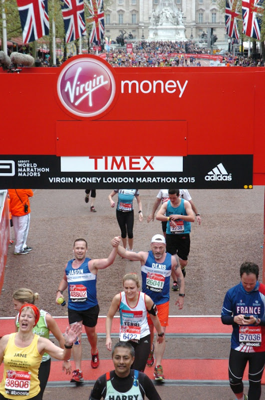 2015 London Marathon finish line