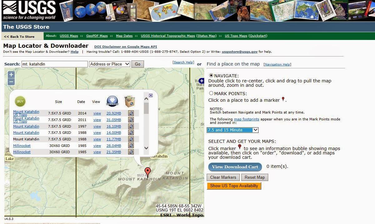 downloading free usgs topo maps